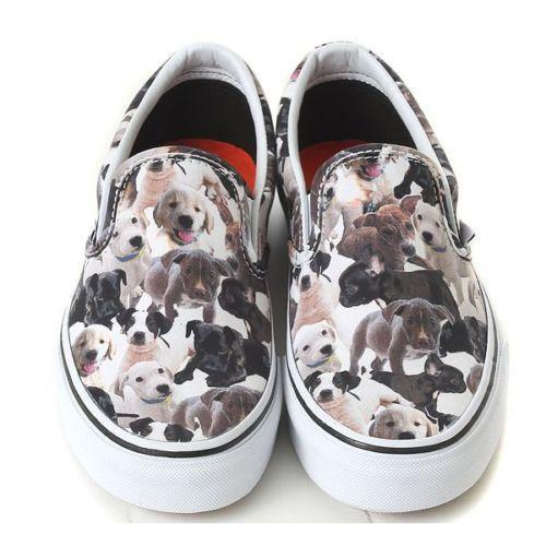 VANS X ASPCA Slip on VN-018DHF2 DOGS Vans Womens TAKSE Puppy dog print vans. 4f929d98fd
