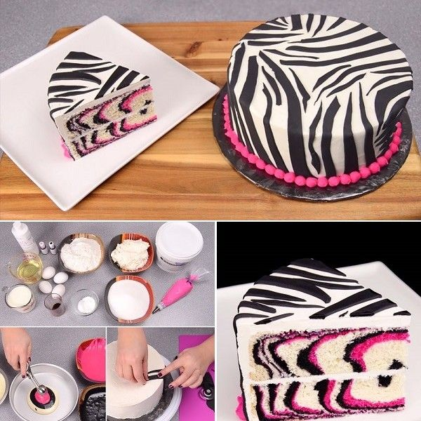 Learn How to Make Your Own Homemade Zebra Cake Cake Recipes and