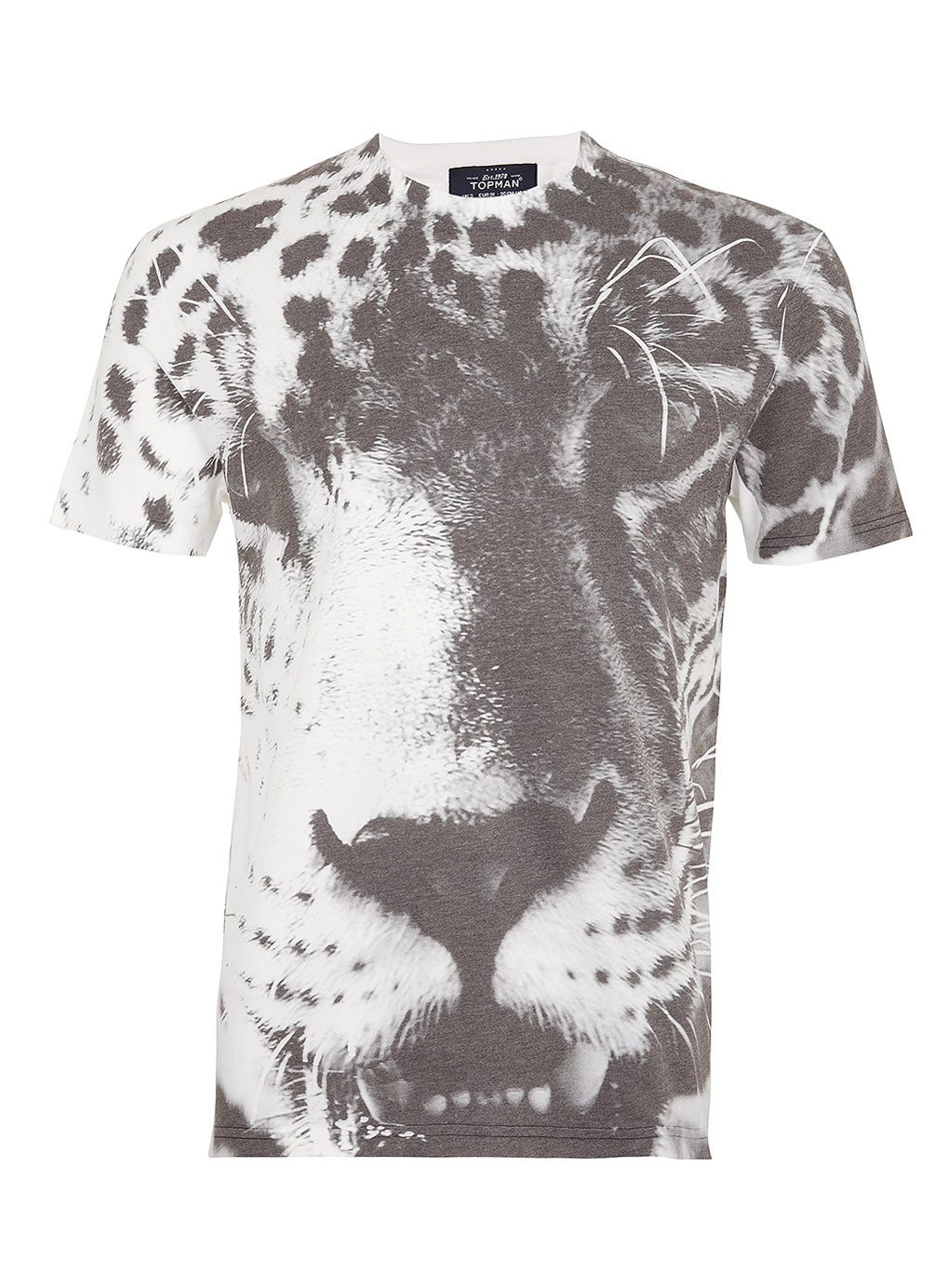 Leopard Face Print TShirt Men's Tshirts Clothing