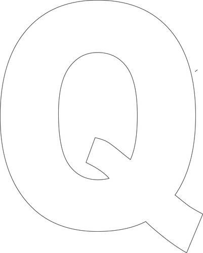 Fan image with regard to letter q printable