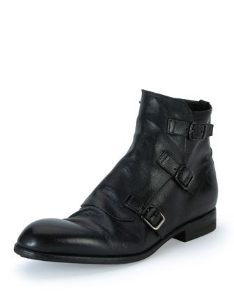 235ceb0362fe Monk-Strap Leather Boot, Black by Alexander McQueen at Bergdorf Goodman.