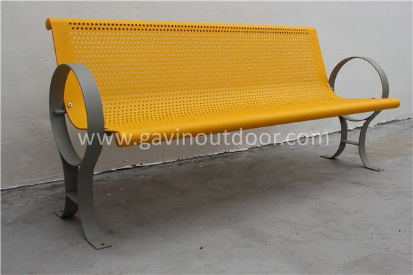 Powder Coated Steel Garden Bench Metal Outdoor Bench Seat View Outdoor Bench Seat Gavin Product Details From Guangzhou Gavin Urban Elements Co Ltd On Aliba Outdoor Bench Seating Metal Outdoor Bench