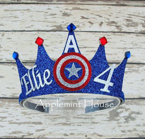 Captain America Crowncaptain America Birthday Crownsuperhero Cole