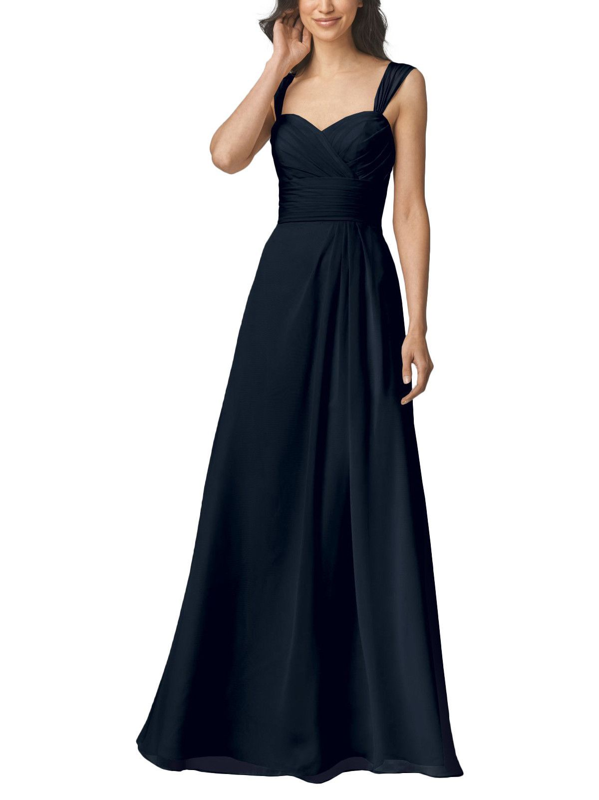 Wtoo by watters style navy blue bridesmaids gowns and wedding