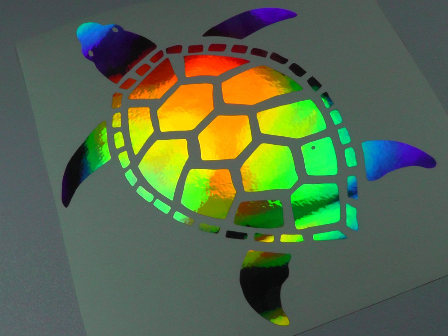 10 Holographic Turtle Car Window Decal Sticker Terrapin Tortoise Turtles Turtle Car Car Window Decals Turtle [ 1125 x 1500 Pixel ]