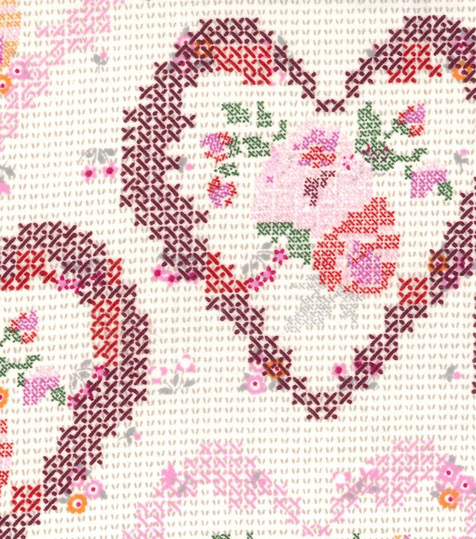 Snuggle Flannel Fabric Heart Cross StitchSnuggle Flannel Fabric