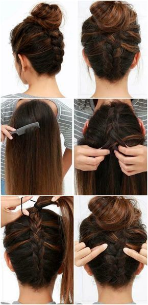 Mache Abendfrisuren Selbst Dutt Braid Plaited Manual Braid Evening Ha Zopf Flechten Anleitung Abendfrisuren Zopfe Flechten
