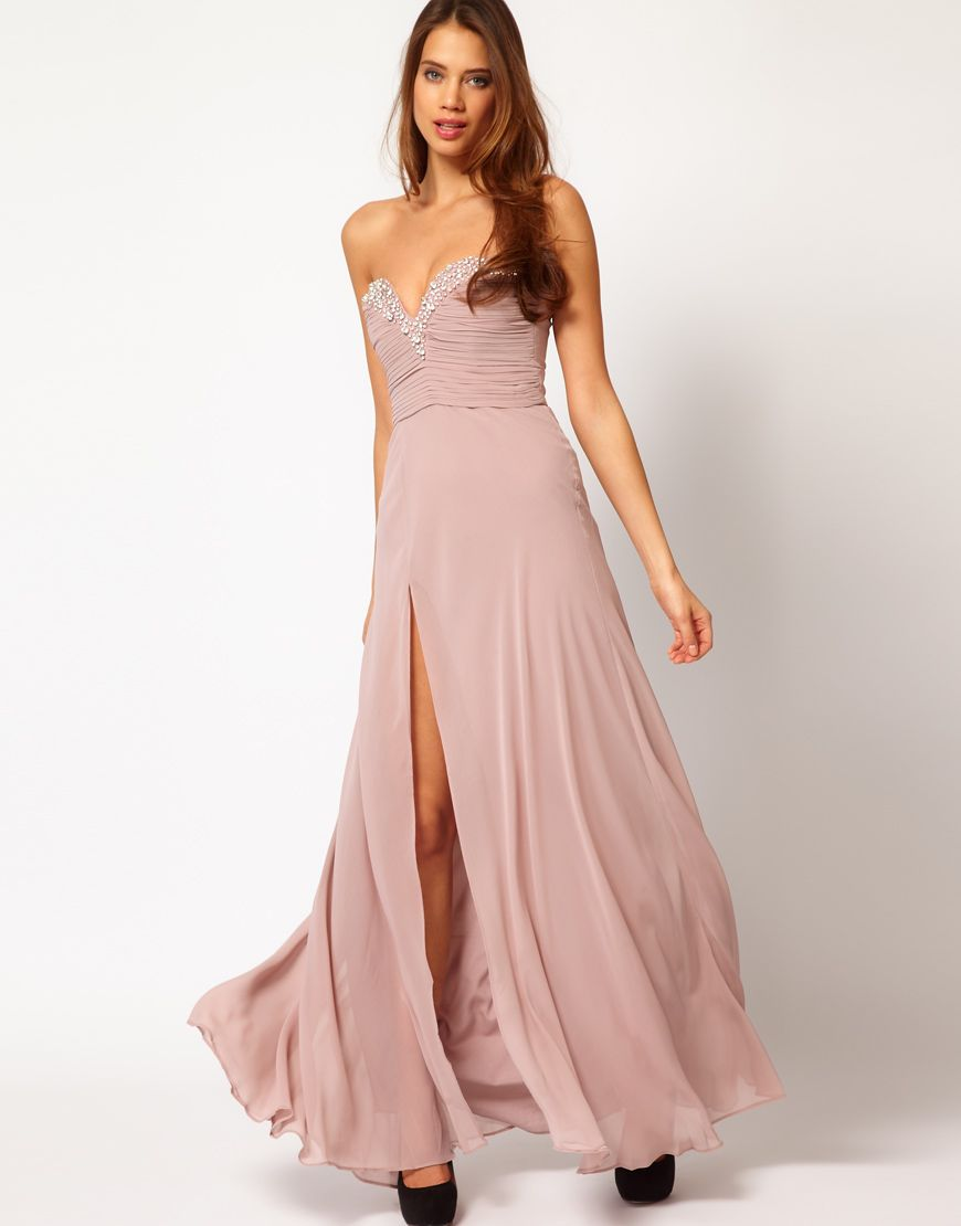 Lipsy VIP Thigh Split Maxi Dress | I Love Nice Swimsuits | Pinterest ...