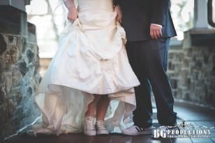 Bride And Groom In Sneakers Fun Chill Unique Relaxed Wedding Glitter Converse Adidas