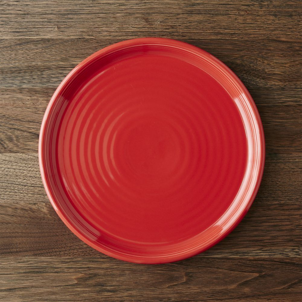 Crate u0026 Barrel Farmhouse Red Dinner Plate & Crate u0026 Barrel Farmhouse Red Dinner Plate | Dinnerware Crates and ...