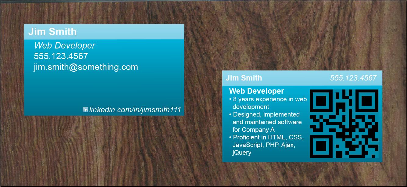 business card resume | Työnhakijakäyntikortti | Pinterest ...