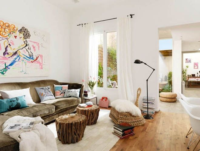 Cute Interior Design Perfect For A Young Urban And Dynamic Couple