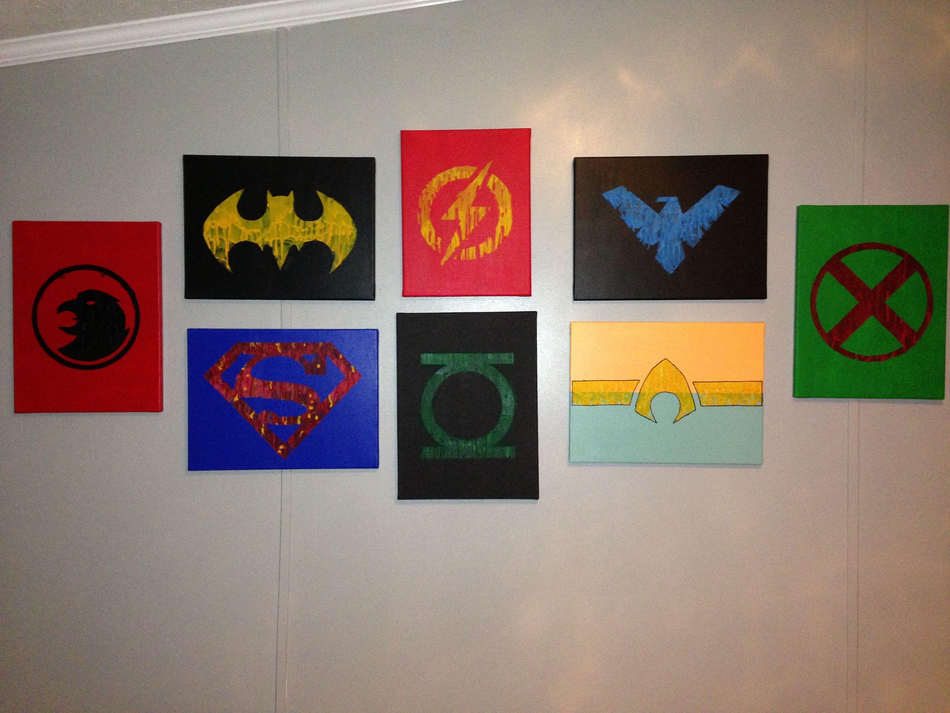 Justice League Diy Wall Art
