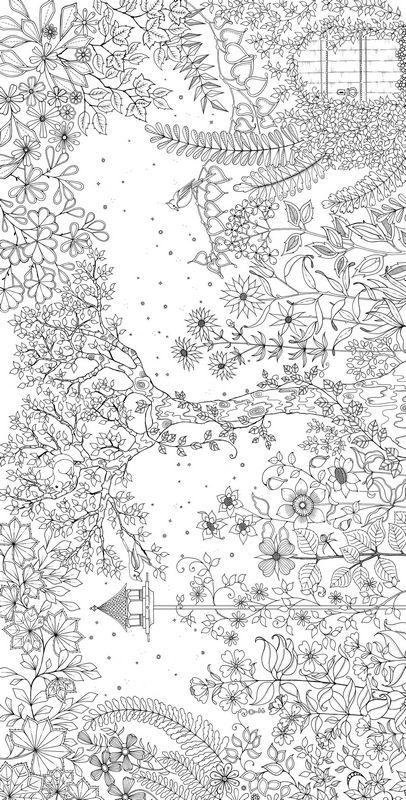 Ausmalbild Eine Geheime Garten Coloring Ausma