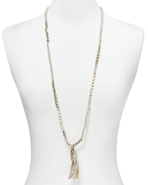 Chan Luu Beaded Tassel Necklace, 37""