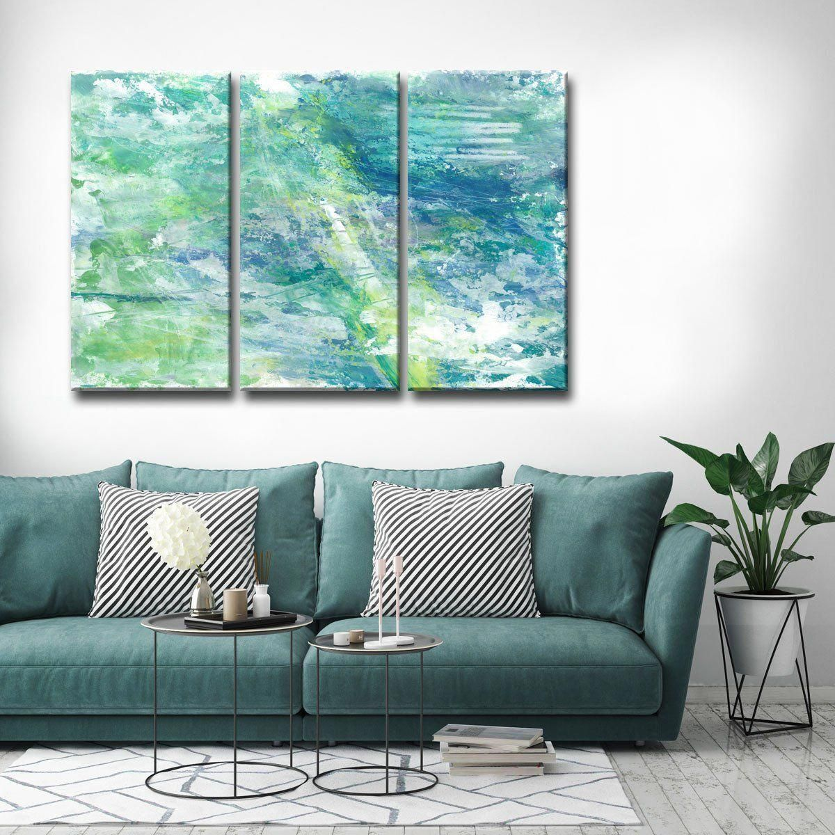 triple canvas acrylic painting ideas for the living room behind the rh pinterest com painting ideas for the living room painting ideas for the living room
