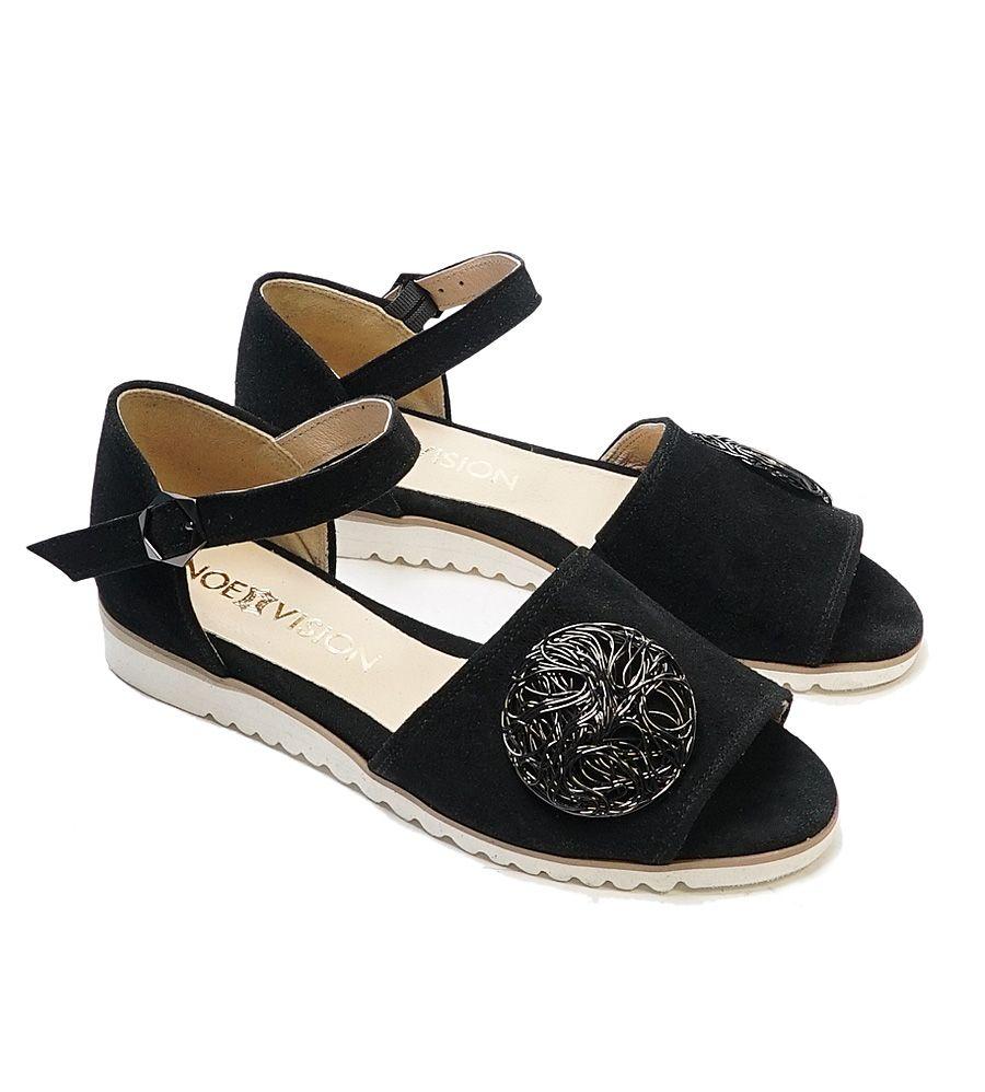 Higo X 2632 Czarny Welur Dla Niej Noevision In 2020 Chanel Espadrille Sandal Espadrille Shoes