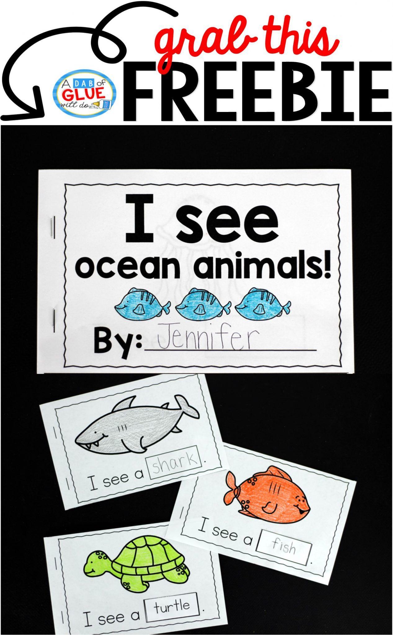 Ocean Animals Interactive Reader