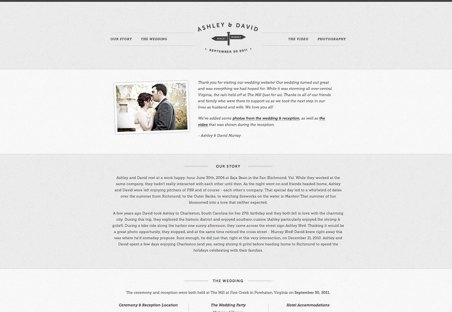 25 Wonderful Wedding Websites