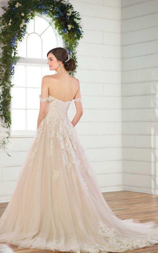 e1283bdda6ce5 lace ballgown wedding dress by essense of australia also mermaid with rich  beadwork rh pinterest