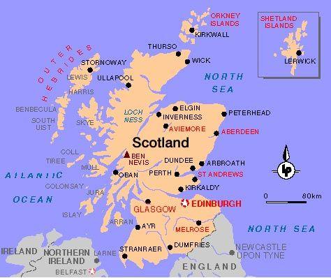 Mapa Politico De Escocia Mapa De Irlanda Escocia Mapa Politico
