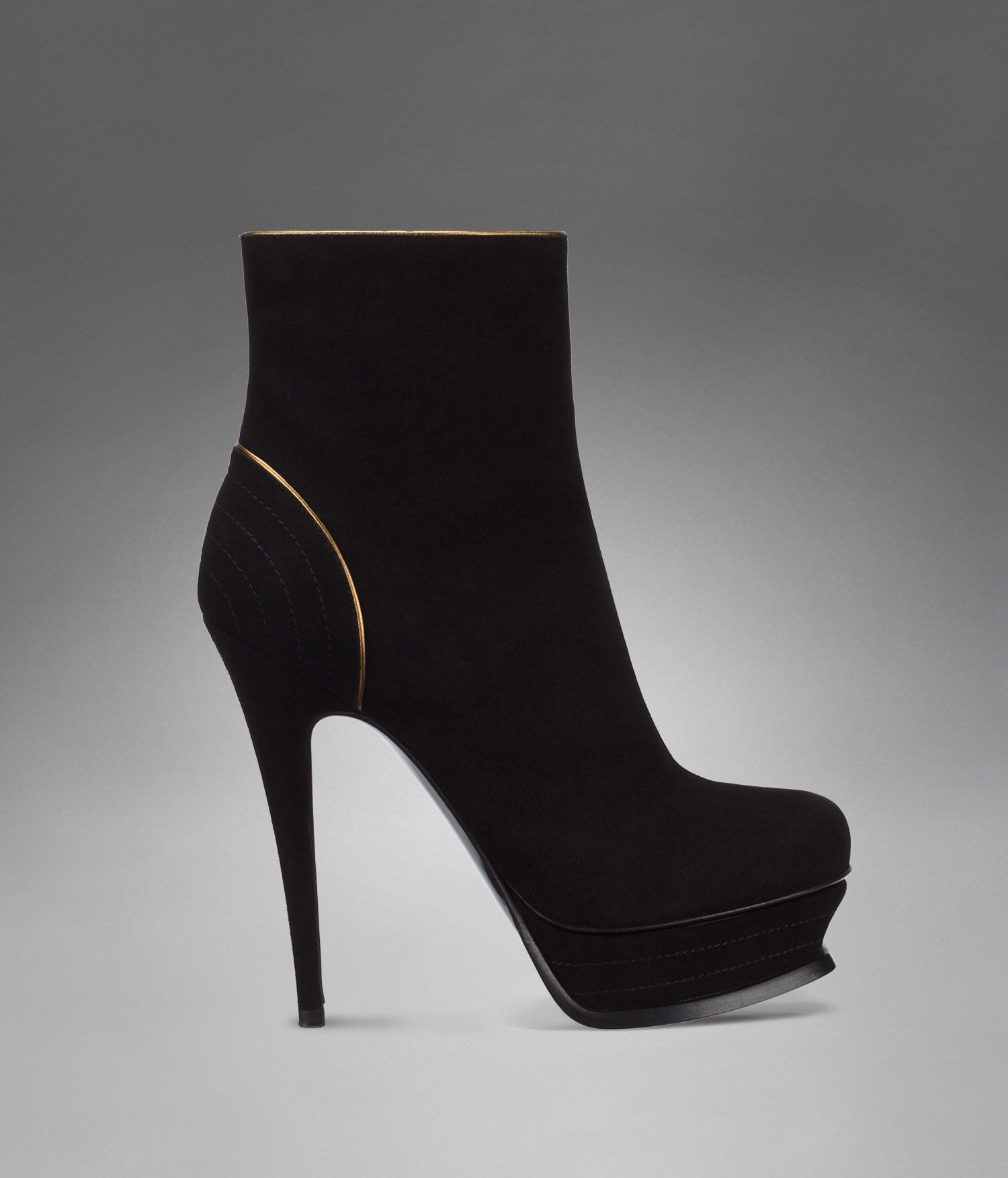 e2a71090710 High heel black suede ankle boot, Yves Saint Laurent, ysl.com, $1225,  ItsGorgeousSheLovesIt.tumblr.com