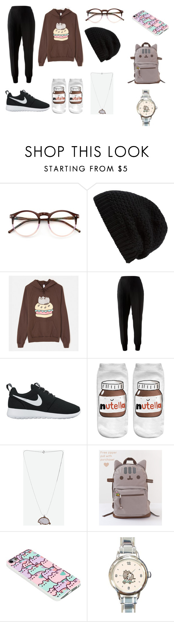 """""""What time is it? It's PUSHEEN TIME!"""" by lilykat004 on Polyvore featuring Wildfox, Rick Owens, Pusheen, STELLA McCARTNEY and NIKE"""