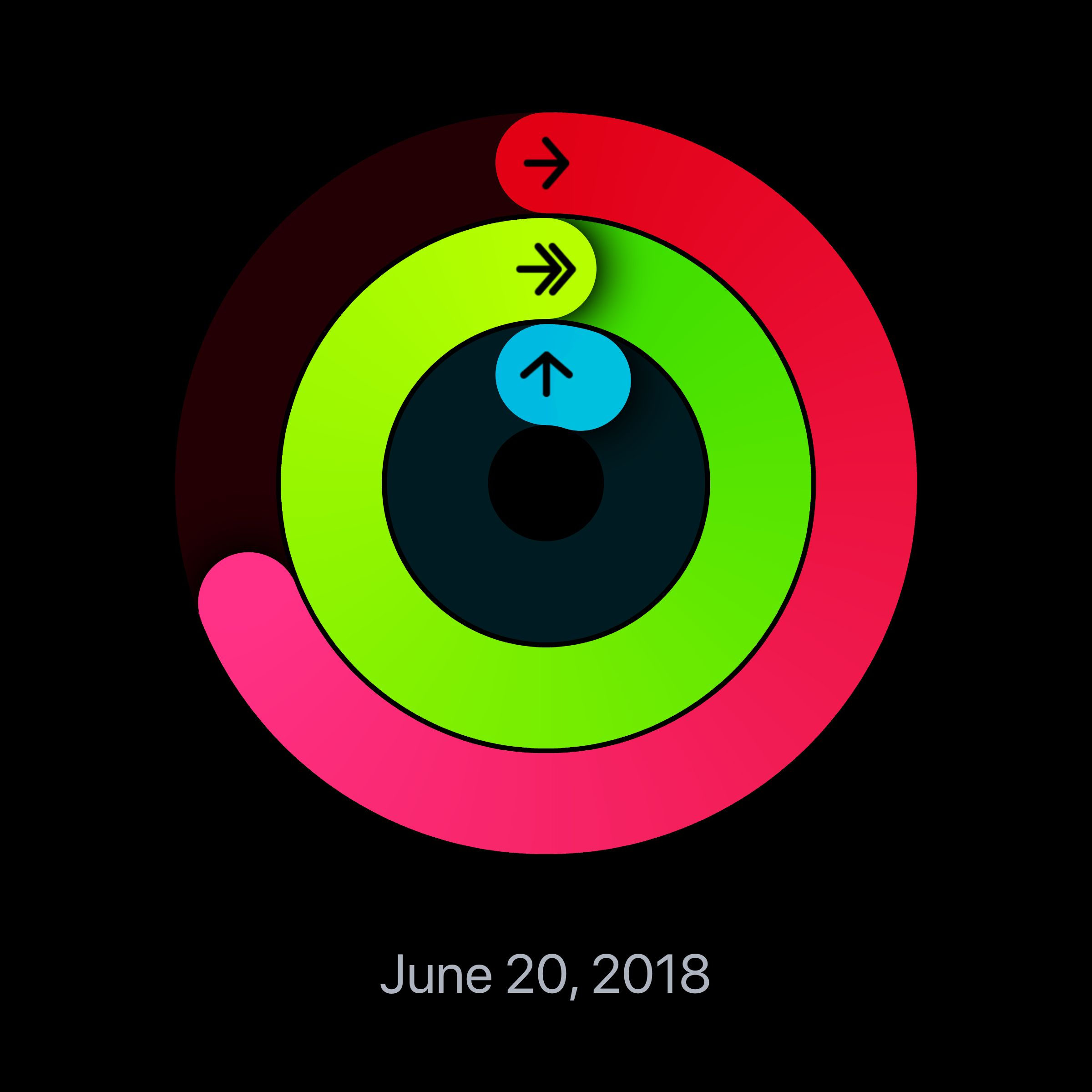 Check out my progress today with the Activity app on my