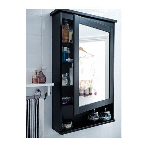 Photo of HEMNES Speilskap med 1 dør – svartbrun flekk – IKEA