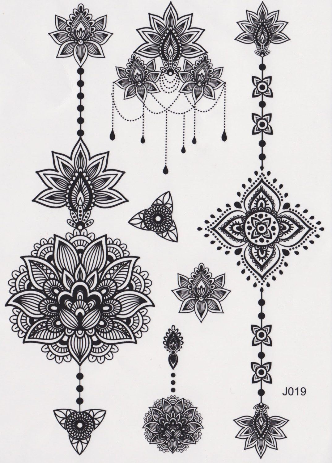 Aiyana tribal lotus temporary tattoo lotus tattoo flower vintage aiyana tribal lotus temporary tattoo izmirmasajfo