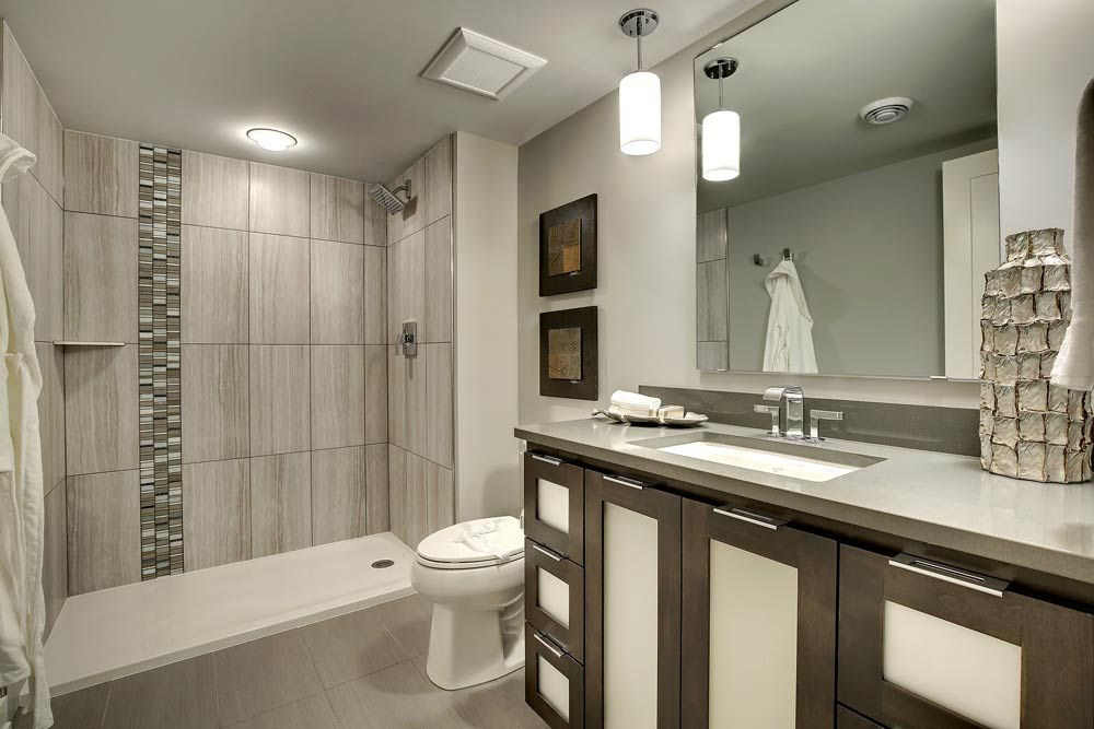 beautiful bath with neutral colors  bathroom inspiration