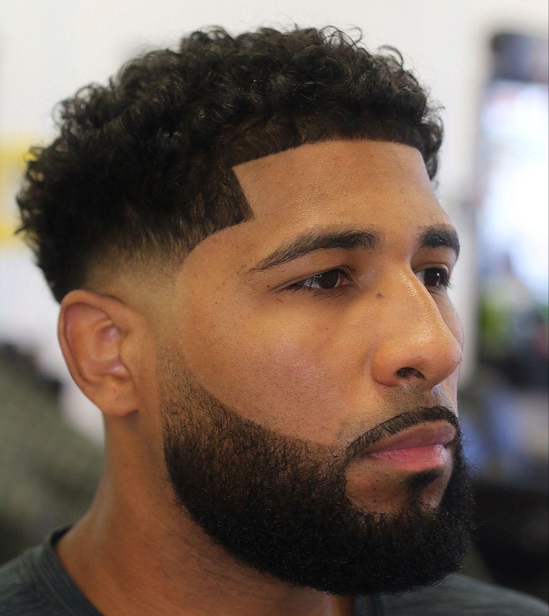 Paul George Fade Man Bun Curly Hair Taper Fade Haircut Low Fade Haircut