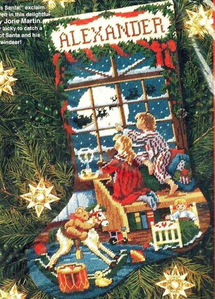 Dimensions Christmas Stocking Kits.Dimensions Christmas Waiting For Santa Stocking Needlepoint