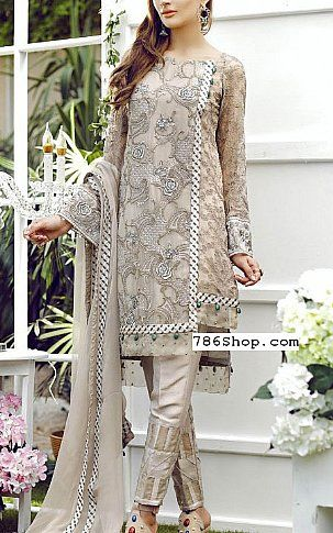 9ad3aac69090 Beige Chiffon Suit | Buy Jazmin Pakistani Dresses and Clothing online in  USA, UK