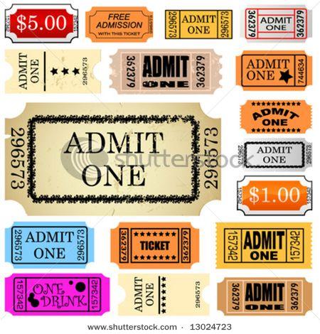 Tickets Admit One Ticket Ticket Template Admit One