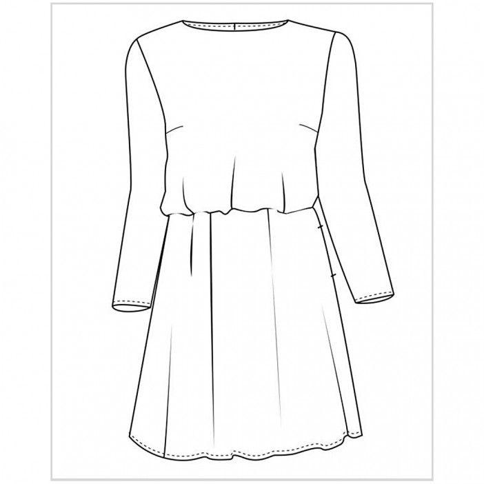 a138075a0ae Køb Maryanne kjole, str. 34-44 for 49,95 kr - STOF 2000 | Sy ...