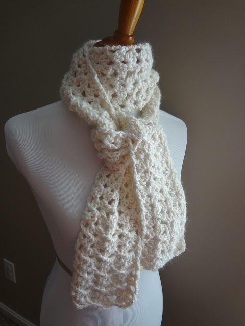 fanatica del tejido: Patrón de Crochet libre...Bufanda de vainilla ...