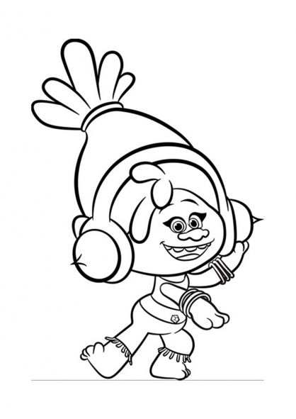 dj coloring pages | Coloriage Les Trolls : DJ Suki | Astuces | Pinterest | Dj ...