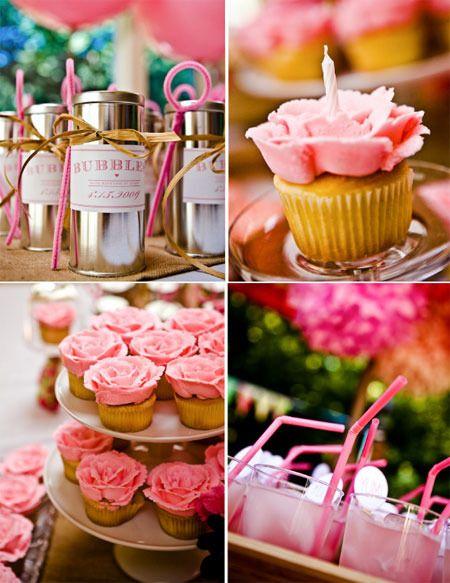 Decoraci n rosa para una fiesta de cumplea os de princesas - Decoracion fiesta cumpleanos ...