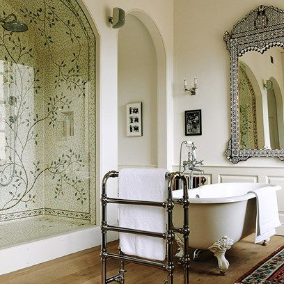mosaic shower a painstakingly restored georgian house nestled in a somerset valley the house - Mosaic Tile House 2015