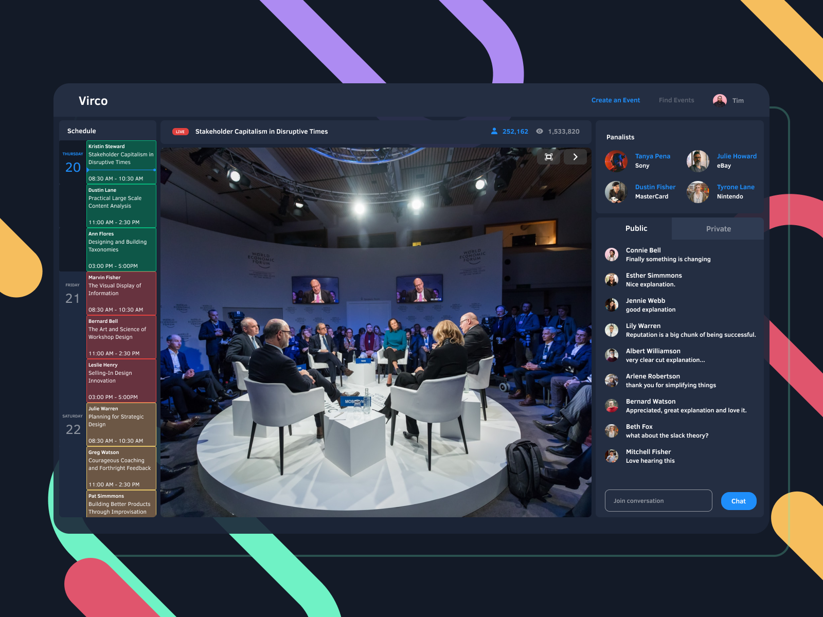 Virco Virtual Conference Platform In 2020 Virtual Conference Design Event Planning