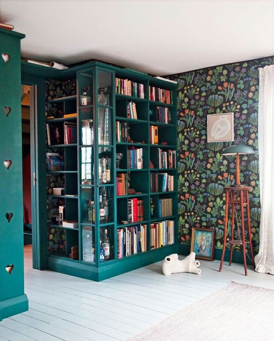 Green! and books.