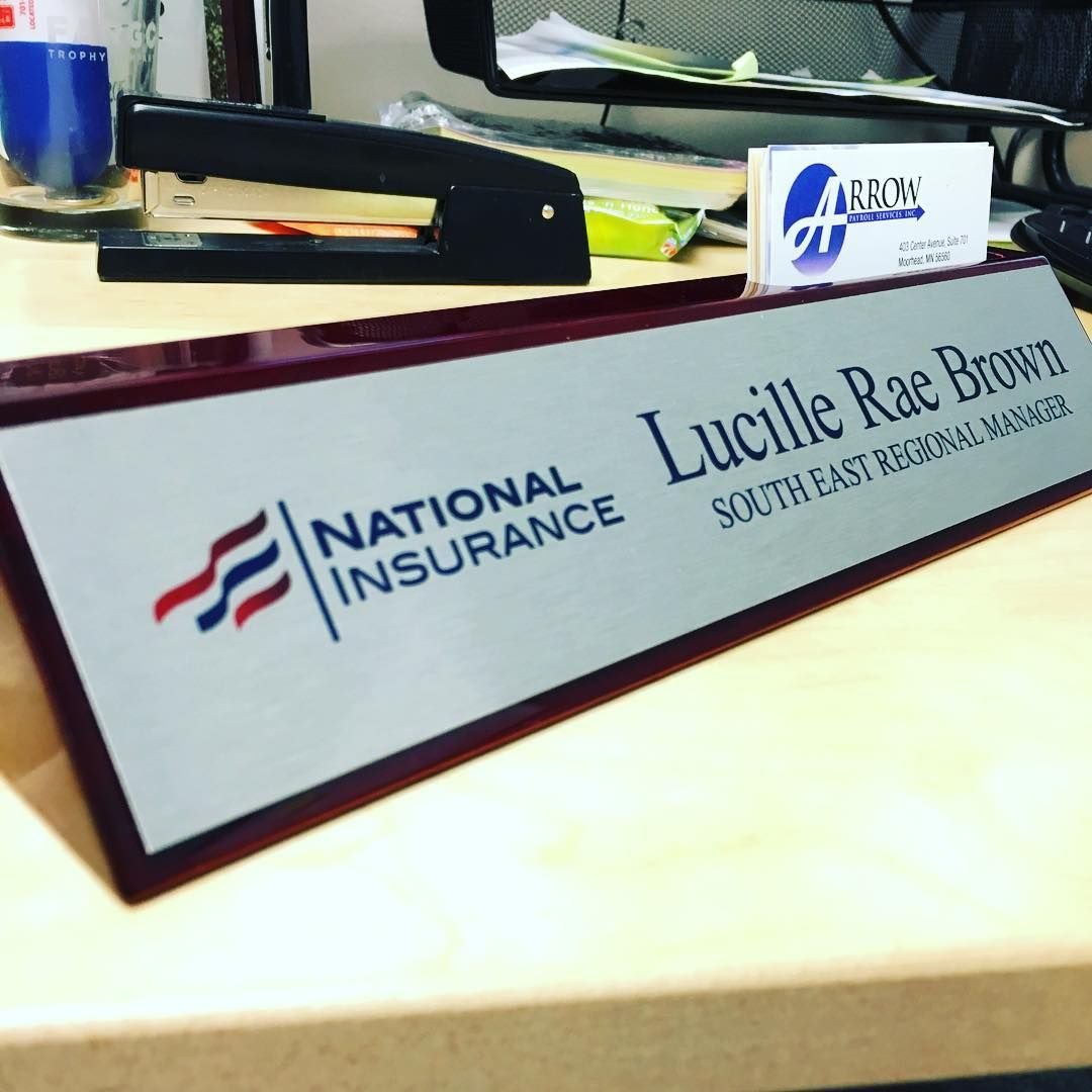 What\'s even better than a desk nameplate? A desk nameplate with a ...