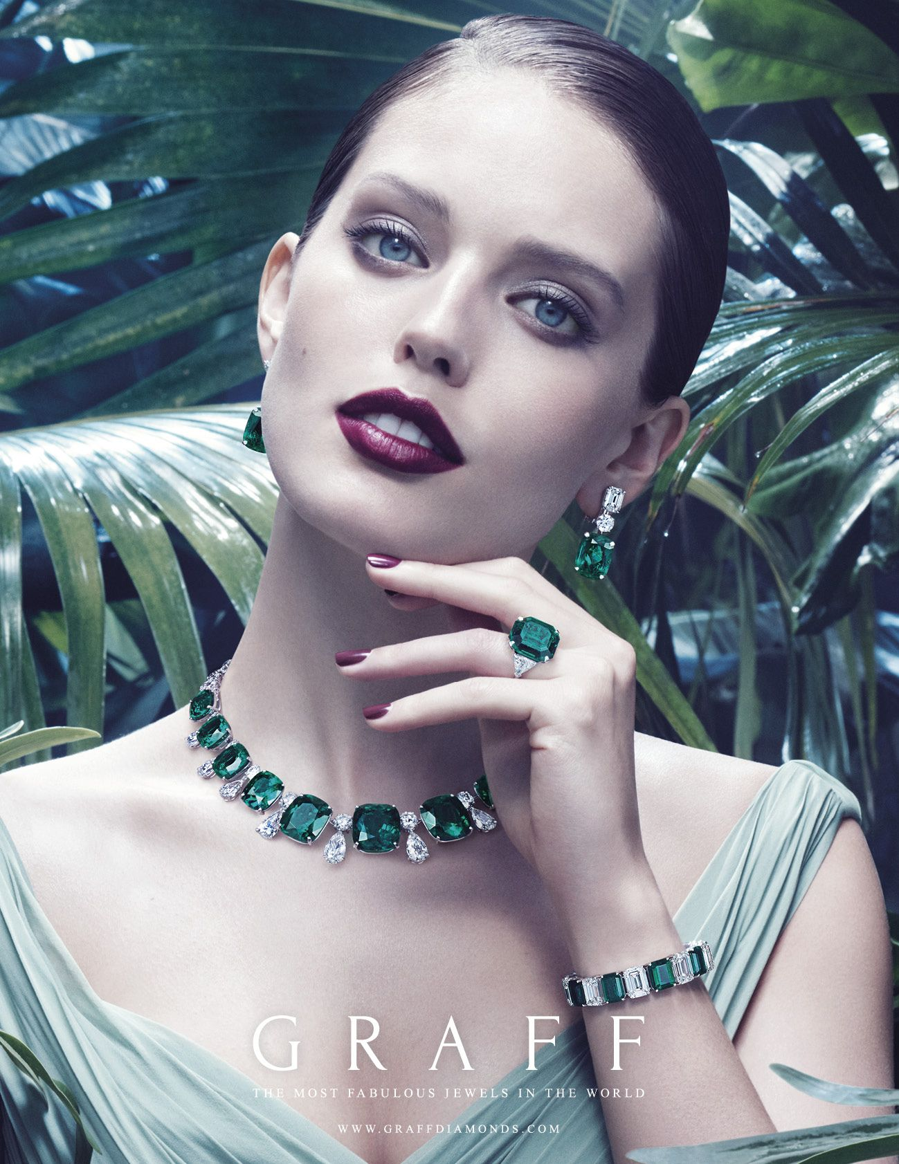 The Ultimate Element - Earth A truly spectacular gift from Mother Nature, exceptional emeralds exemplify one of earth's rare wonders with captivating appeal in Graff's new advertising campaign. #GraffDiamonds #Earth