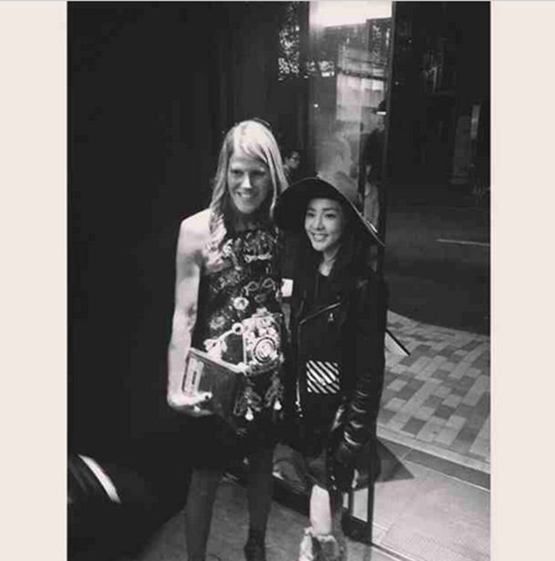 """DARA:""""""""It was an honor to meet the fashion icon herself, Anna Dello Russo! Nice meeting you and hope to see you again! :) #VogueJapan's15thAnniversaryParty@anna_dello_russo @voguejapan"""""""