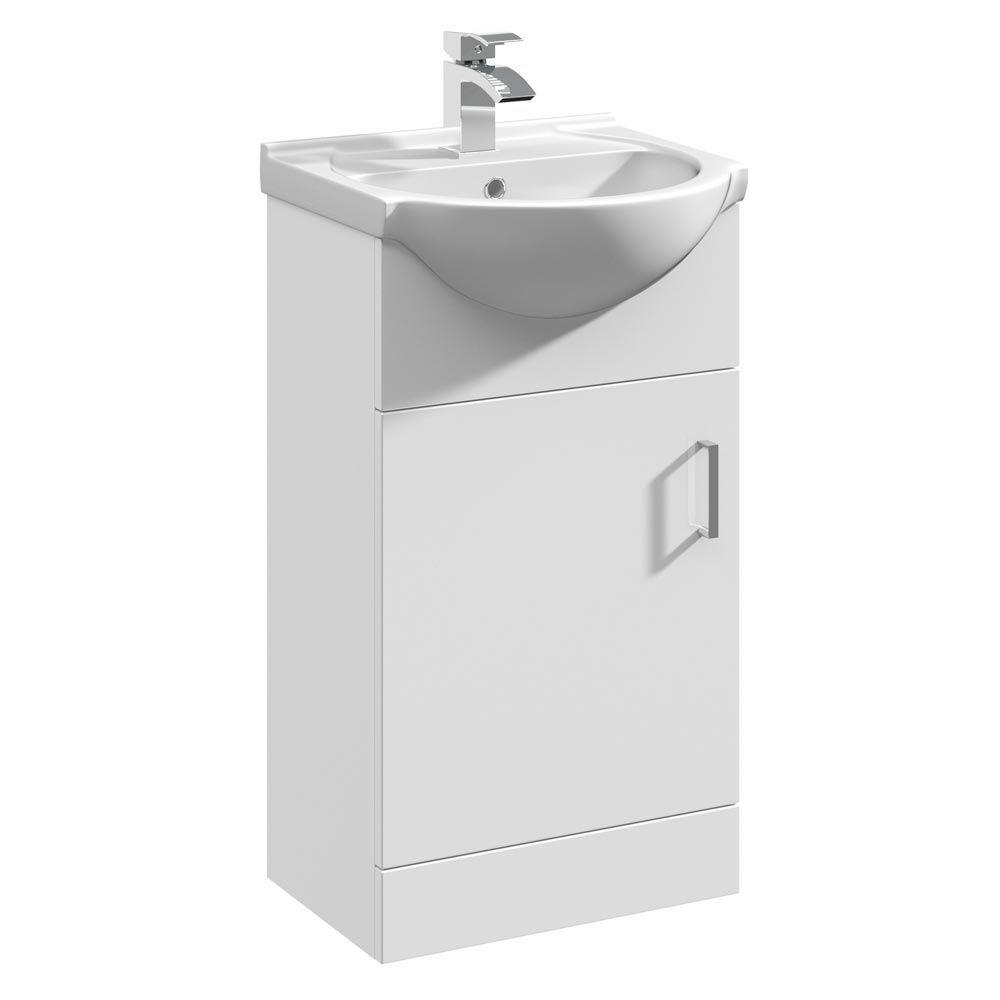 Cove White 450mm Small Vanity Unit   Small vanity unit