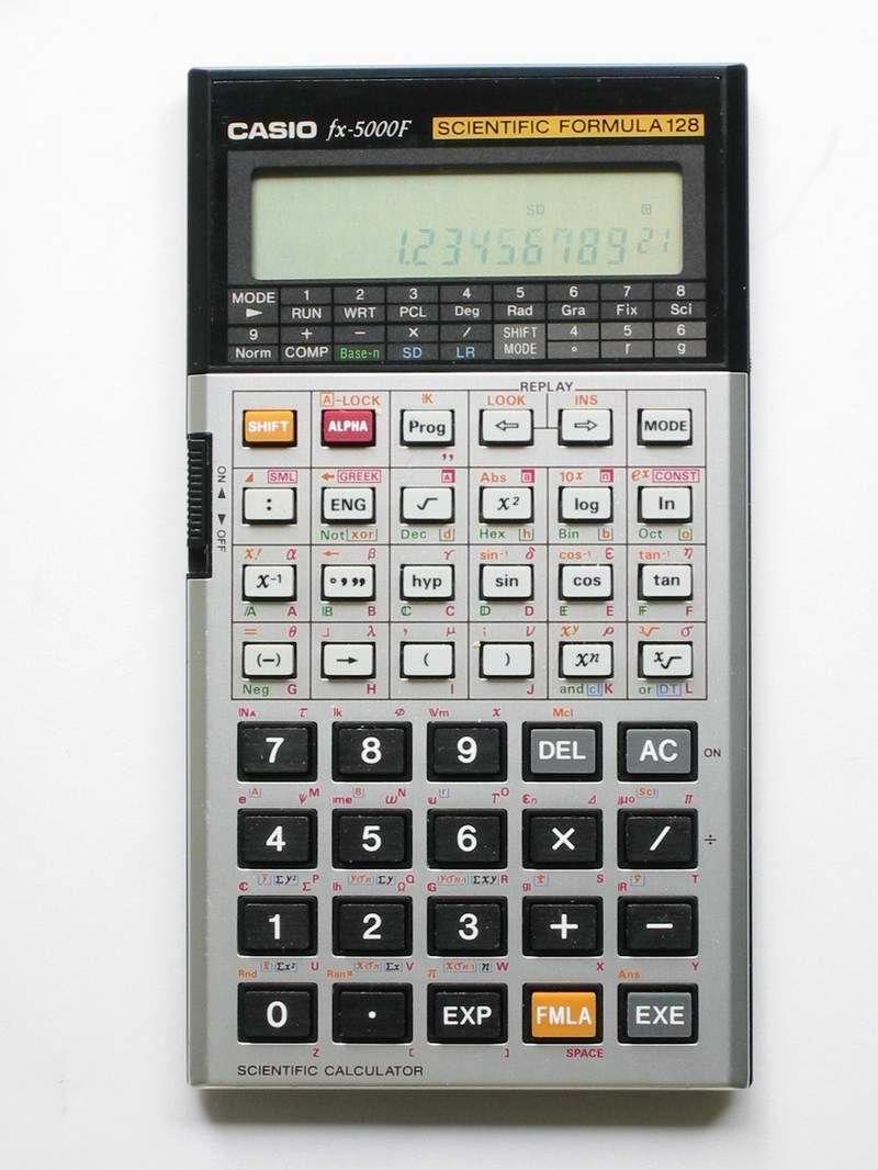 Casio Fx 5000f I Still Have This One Somewhere Calculadora