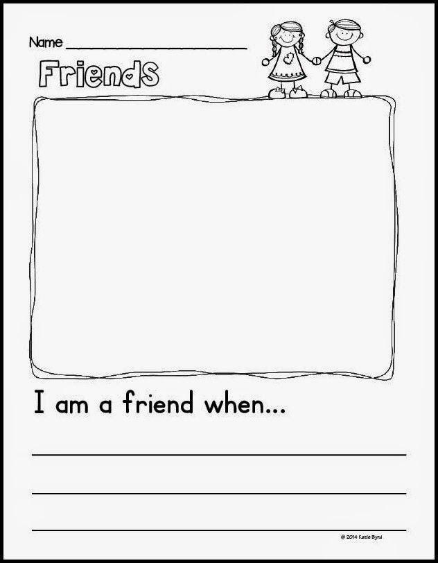 Back To School Fun Kindergarten Writing First Grade Writing Friendship Lessons