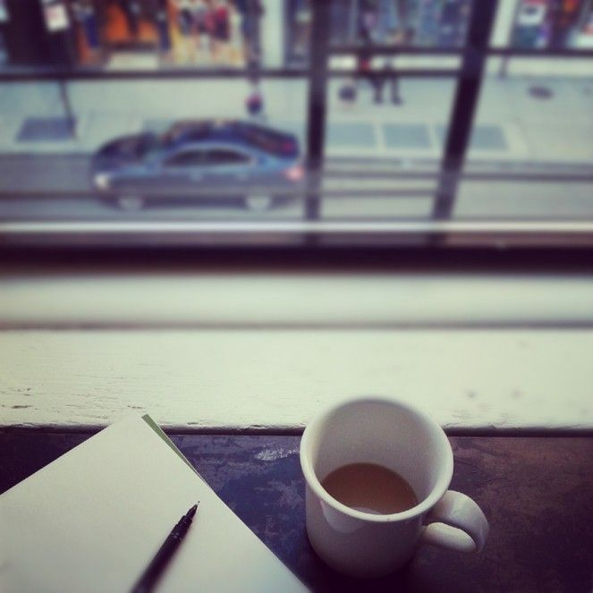 lonely tea in NYC.   Photo by Heather Moore 2012