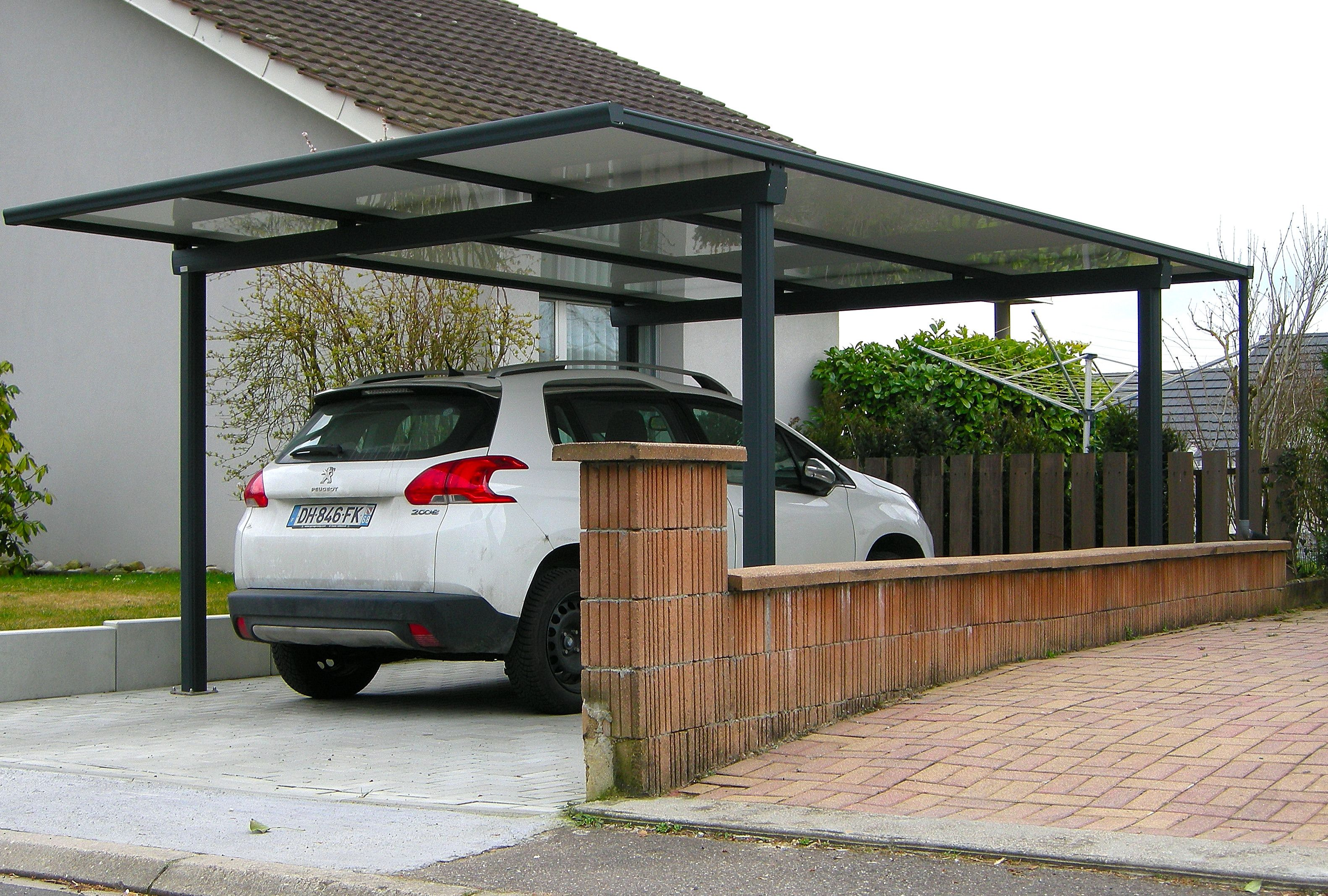Carport alu, abri voiture alu ou abri camping car sur